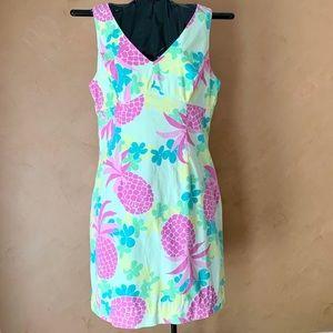 VTG Lilly Pink Pineapple Anna Shift Dress 14